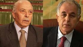 A gauche Chedly Ayari, à droite Mustapha Kamel Nabli.