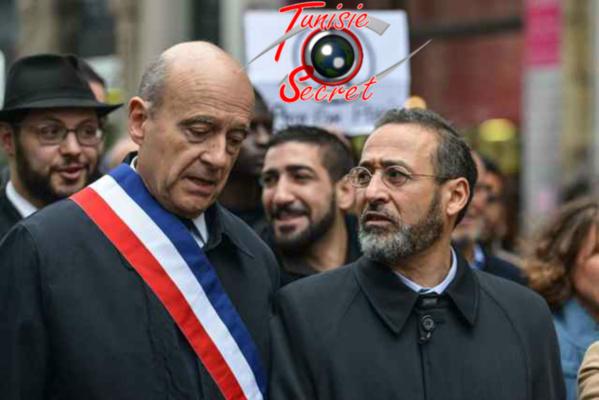 """Alain Juppé en compagnie de son """"conseiller"""" spécial en matière d'identité heureuse, l'imam Tareq Oubrou !"""