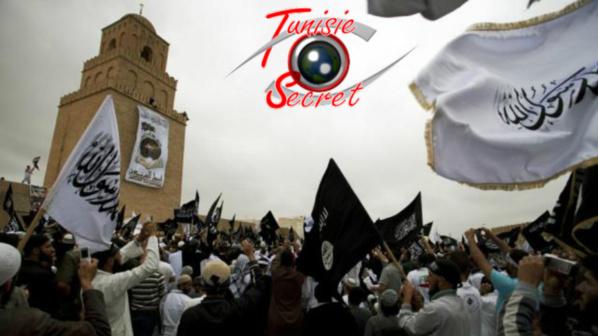 Manifestation des Daechiens Tunisiens à Kairouan.