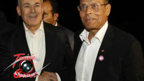 Les deux mercenaires des Frères musulmans et salariés du Qatar, Burhan Ghalioun et Moncef Marzouki.