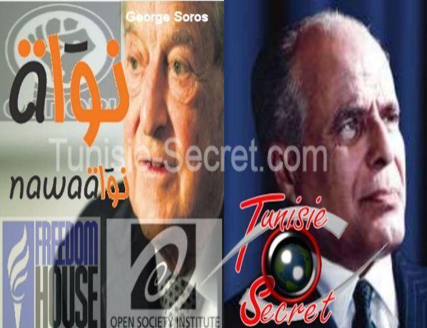 Selon Jeune Afrique, Nawaat est financé par le sioniste George Soros et Tunisie-Secret est inspirée par le bourguibisme