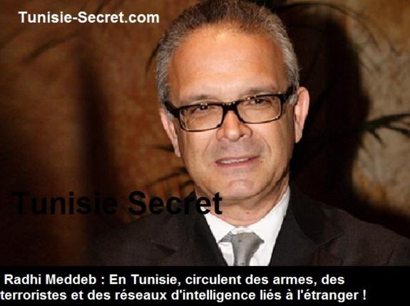 En Tunisie, circulent des armes, des terroristes et des réseaux d'intelligence liés à l'étranger.Par Radhi Meddeb