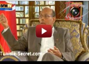 Une statue à 800 000 euros  représentant le 7 novembre dans le salon de Marzouki