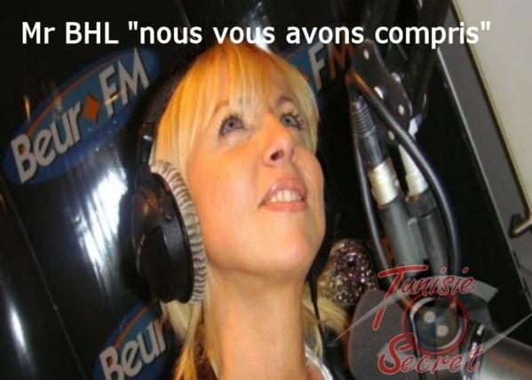 """Vanessa - Confidences radio BEUR-FM : Mr BHL """" nous vous avons compris """" !"""