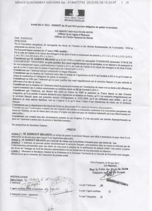 Un tunisien abusivement expulsé de France avec la complicité du Consulat tunisien