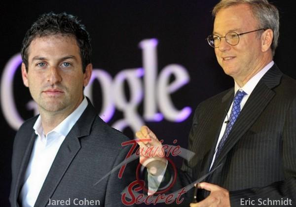 Jared Cohen et Eric Schmidt, deux pions qu'Obama a placé cher Google pour provoquer le printemps arabe (vidéo)