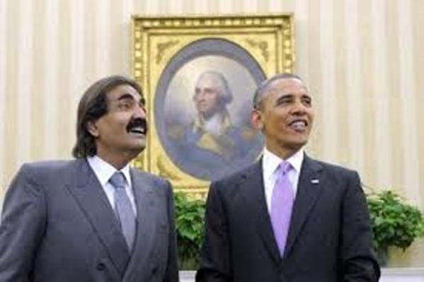 Cheikh Hussein Obama d'Amérique avec cheikh Hamad du Qatar!