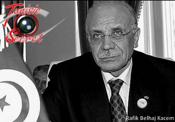 Rafik Belhadj Kacem, ancien ministre de l'Intérieur, blanchi par la Justice tunisienne.
