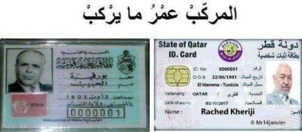 Habib Bourguiba l'incarnation de la Tunisie et Rached Ghannouchi le mercenaire du Qatar.