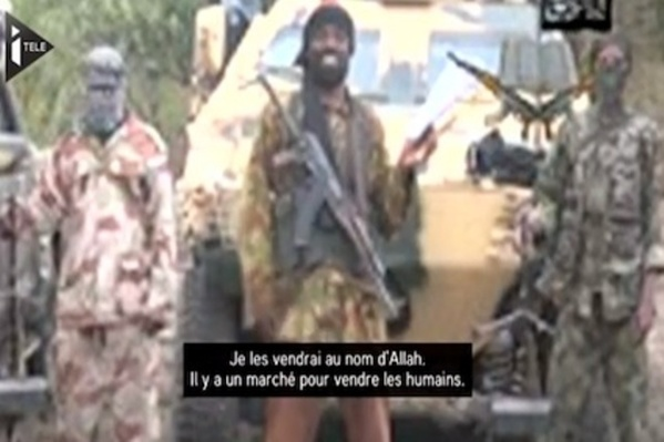 Aboubakar Shekau, chef du groupe islamo-terroriste Boko Haram, et l'un des esclaves du Qatar.