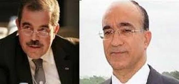 Mondher Zneidi, ancien ministre du Commerce et du Tourisme, et Ridha Grira, ancien ministre de la Défense.