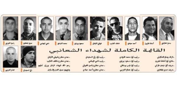 Les martyrs de la Tunisie qui ont été lâchement assassinés à djebel Chaambi.