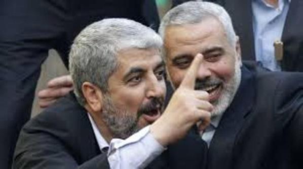 Les deux mercenaires du Qatar qui ont pris en otage les Palestiniens de Gaza et qui ont volontairement provoqué les criminels d'Israël pour massacrer plus de 1300 civils en moins d'un mois.