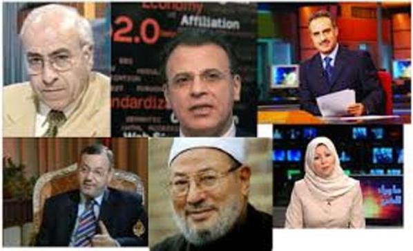 """Quelques propagandistes et scénaristes du film hollywoodien appelé """"printemps arabe""""."""