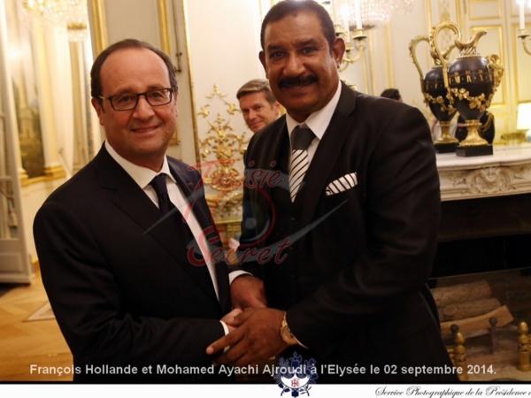 François Hollande et Mohamed Ayachi Ajroudi à l'Elysée le 02 septembre 2014.