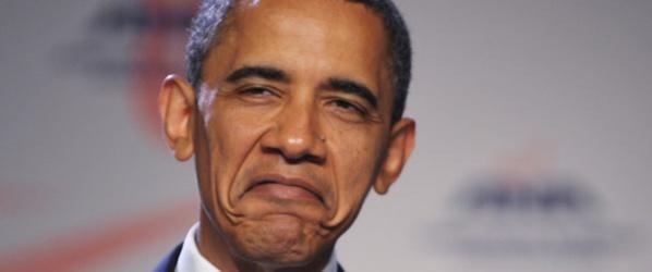 Barack Hussein Obama, le président le plus nul des Etats-Unis. Jusqu'à présent, le record de la bétise était détenu par son prédécesseur George W.Bush.
