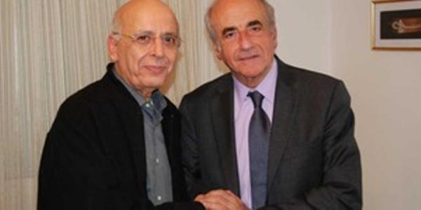 Jean-Pierre Elkabbach avec Mohamed Ghannouchi en janvier 2011. Octobre 2014, c'est un autre Ghannouchi qu'Elkabbach va recevoir !
