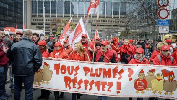 La colère des travailleurs et des chômeurs en Belgique.