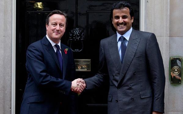 """David Cameron, actuel premier ministre britannique et probablement futur consultant de """"Qatar Investment Authority"""", comme son prédécesseur Tony Blair."""
