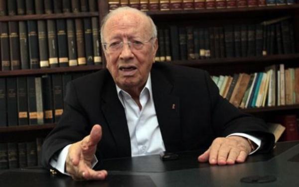 Béji Caïd Essebsi, président de Nidaa Tounes et principal favori dans les élections présidentielles en cours.
