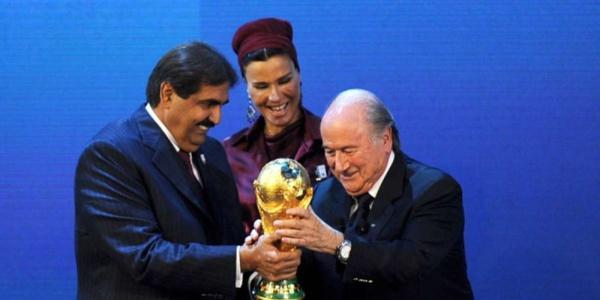 Joseph Blatter, à l'époque où les affaires allaient très bien avec Hamad et Mozza, les principaux corrupteurs de la planète.