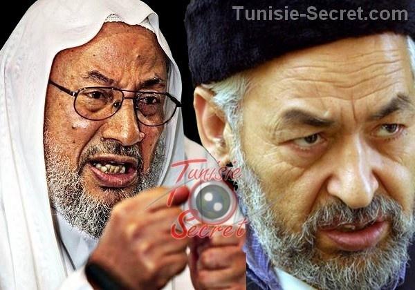 Le grand Mufti de l'OTAN, Youssef Qaradaoui, et son disciple tunisien Rached Ghannouchi.