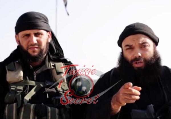A gauche, le compagnon d'Abou Iyadh qui se fait appeler Abou-Moussaâb. A droite, le visage de Boubaker al-Hakim enfin dévoilé.