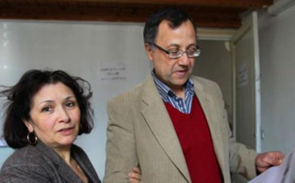 Sihem Ben Sedrine et son époux Omar Mestiri, le couple qui a escroqué les journalistes de la vraie-fausse radio Kalima.