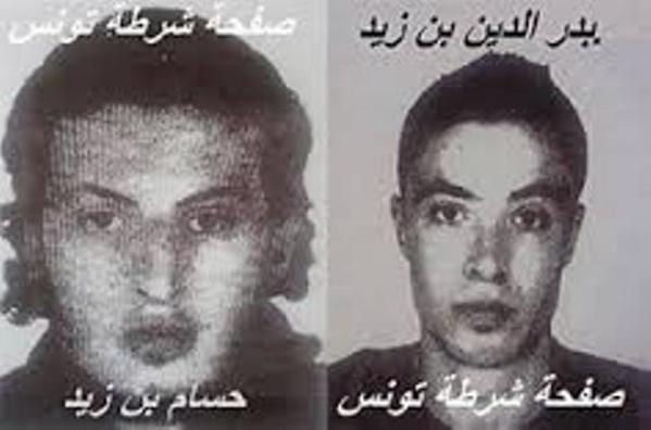 Les deux racailles terroristes, Houcem Ben Zid (à gauche) et son frère Badreddine Ben Zid (à droite).