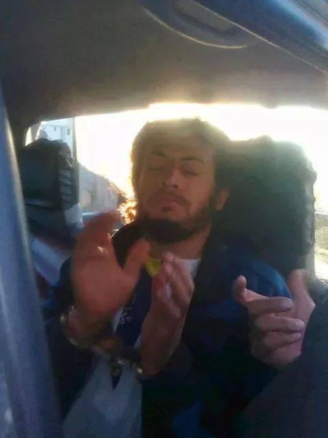 Le criminel Houcem Ben Zid après son arrestation le 4 janvier 2014.
