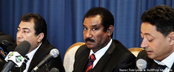 Mohamed Ayachi Ajroudi annonçant la création de son mouvement politique, le 8 juillet 2013.