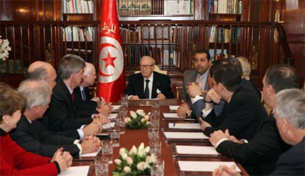 Au palais de Carthage, avec Béji Caïd Essebsi.