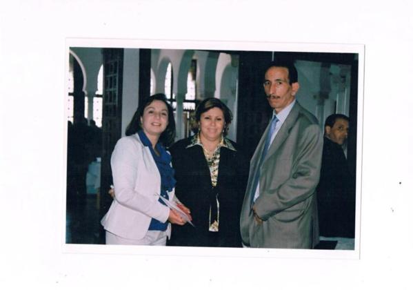 Le défunt Moneem Chaabani, avec les députées Zohra Mhirsi et Rim Chaouachi.