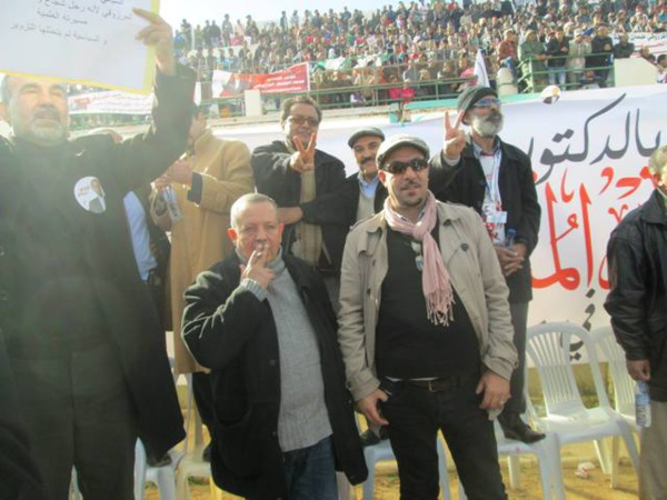 Chiheb Boughedir au meeting de son patron Moncef Marzouki, le 17 décembre 2014 à Sidi Bouzid.