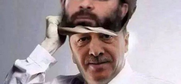 Le Frère musulman Recep Tayyip Erdogan, véritable calife de Daech.