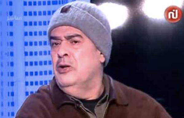 """Taoufik Ben Brik, dans son accoutrement de voyou tout à fait compatible avec cette télévision """"d'élite"""" !"""