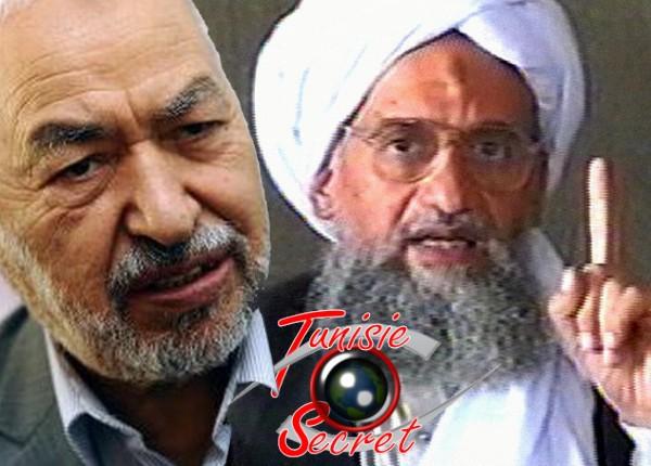 Rached Ghannouchi et son frère en secte, Ayman al-Zawahiri.