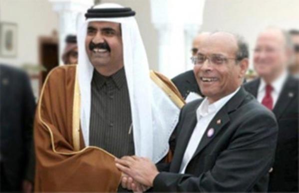 Moncef Marzouki avec son maître Hamad. En arrière plan, Hammadi Jebali Alias Hamma McCain et Mustapha Ben Jaafar, alias Soussou Walles !