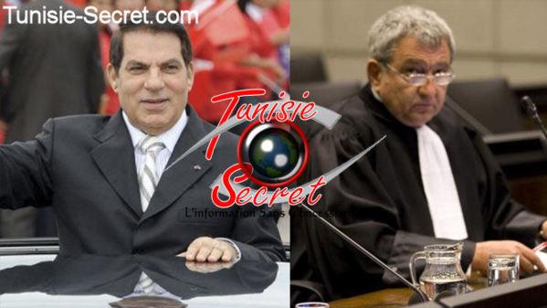 Ben Ali et son avocat libanais Akram Azoury.