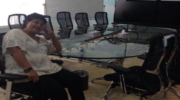 L'égyptienne Howaida Taha, le jour de son éviction d'Al-Jazeera après 19 après de bons et loyaux services.