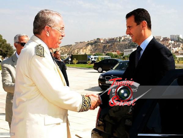 Le président syrien reçu par le gouverneur de Tunis, Mondher Friji, le 13 juillet 2010.