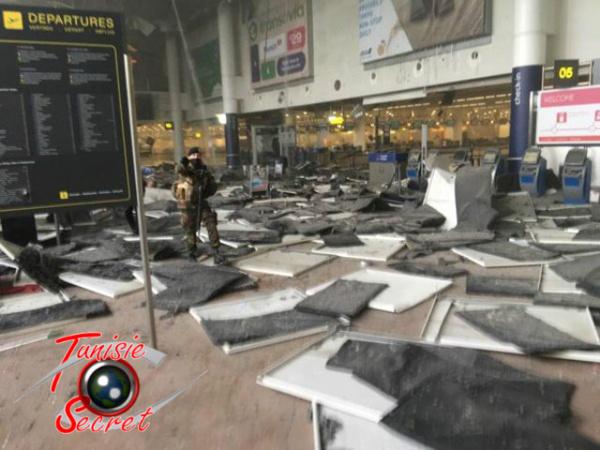 L'aéroport interational de Bruxelles, ce matin.