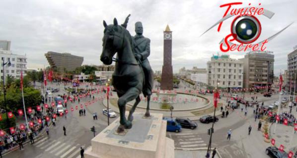 Habib Bourguiba au centre de Tunis, au cœur des Tunisiens et de l'Histoire.