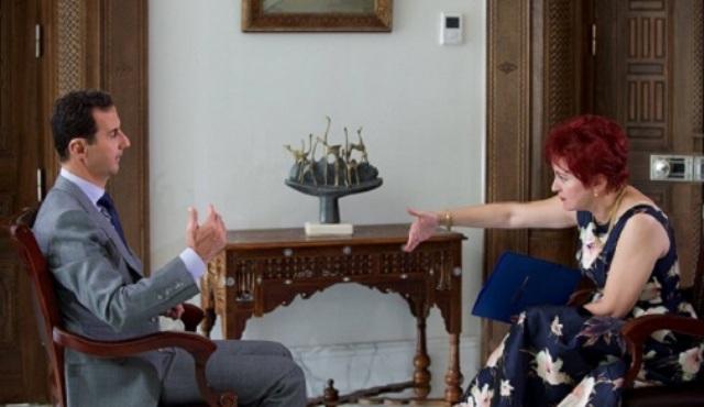 14 octobre 2016, le Président de la République Arabe Syrienne, Bachar Al-Assad, interwiewé par Darya Aslamova, du quotidien russe Komsomolskaïa Pravda.
