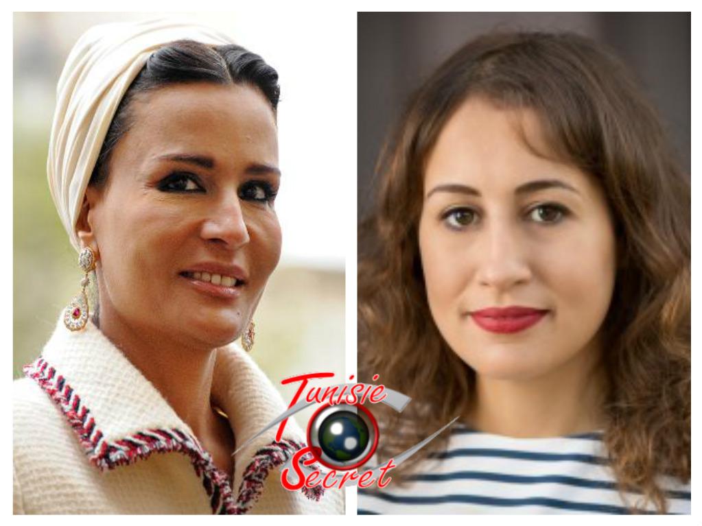 A gauche, Moza Bint Nasser Al-Missned, à droite Amira Bint Yahyaoui Al-Ghomrassen.