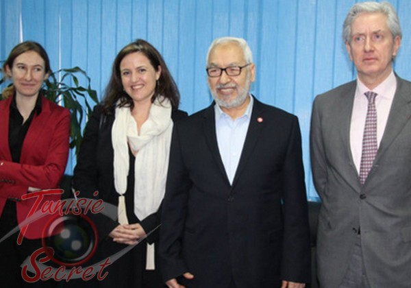 Son Excellence François Gouyette et son Eminence Rached Ghannouchi
