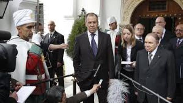 Serguei Lavrov et Abdelaziz Bouteflika à Alger.