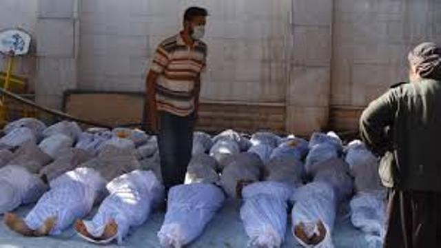 Génocide à la Ghouta en Syrie, le 21 août 2013, qui a fait 1400 morts selon les renseignements américains. Auteurs du génocide, la Turquie et l'Arabie Saoudite.