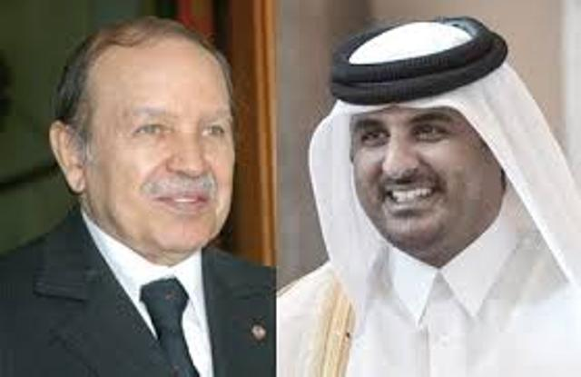Le Président de la République algérienne et le roitelet du Qatar.