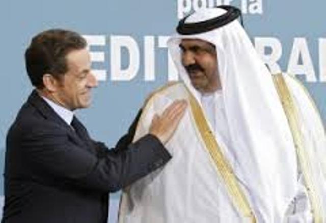 L'ex-président de la République française avec l'ex-dictateur de l'oligarchie mafieuse.